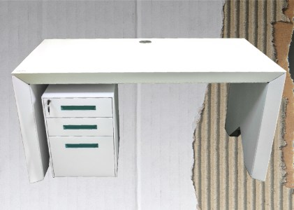 How much recycled cardboard is in my ECO360® sustainable cardboard desk?