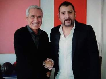 Gullo con l'ex juventino Oscar Damiani