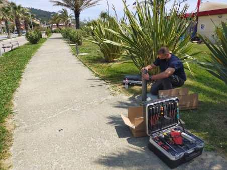 Iniziati i lavori dei punti luce sulla passeggiata mare di Levante