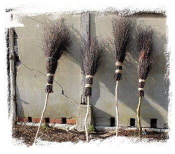 making besom brooms at AJS Rural Crafts