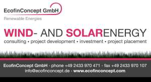 EcofinConcept wind and solar energy