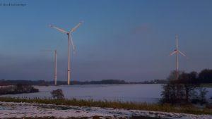 Windpark NRW Winter