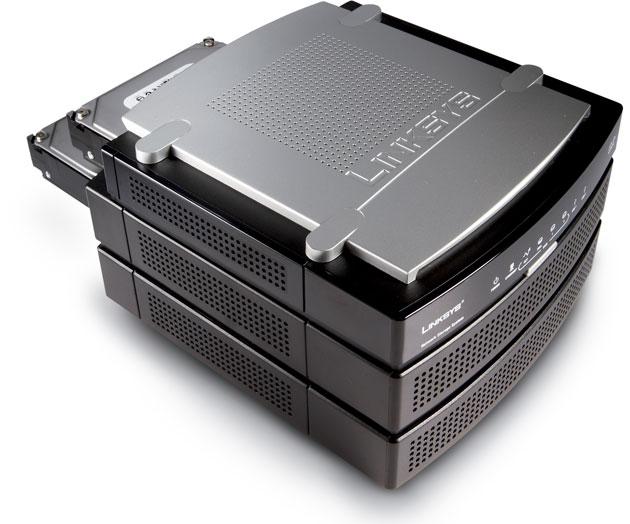 NAS LinkSys / Cisco para 2 HDs (disco exposto)