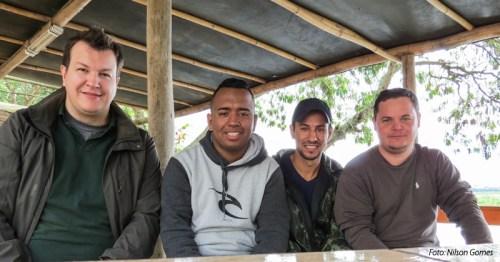 Tiago D., Prince, Michel e Nilsol. Foto: Nilson Gomes.