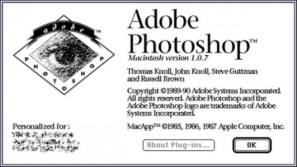 1990 - Adobe Photoshop versão 1.0
