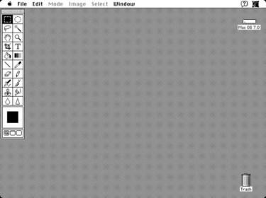 1990 - Adobe Photoshop versão 1.0 - área de trabalho