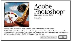 1991- Adobe Photoshop versão 2.0