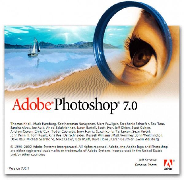 2002 - Adobe Photoshop versão 7.0
