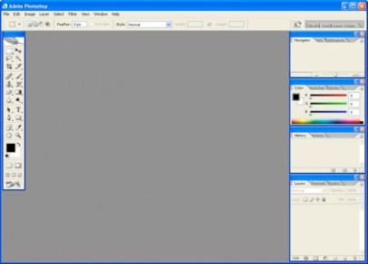 2005 - Adobe Photoshop versão CS2 - área de trabalho