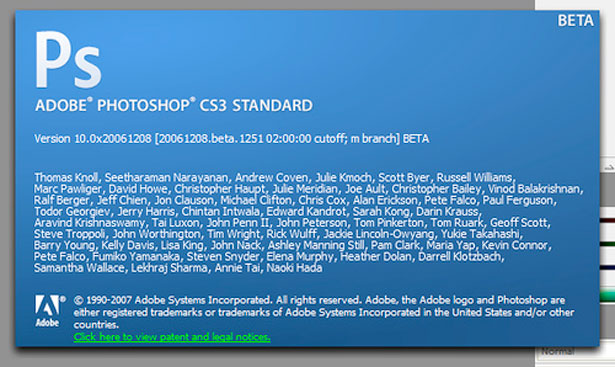 2007 - Adobe Photoshop versão CS3