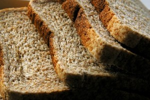 revive stale brown bread sliced