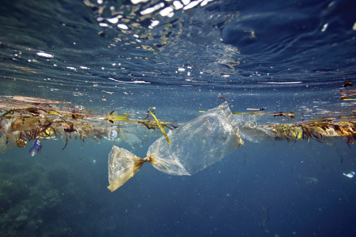 water contains microplastics and microplastic pollution