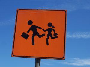 sign children walking to school