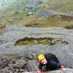 Climbing in Wales