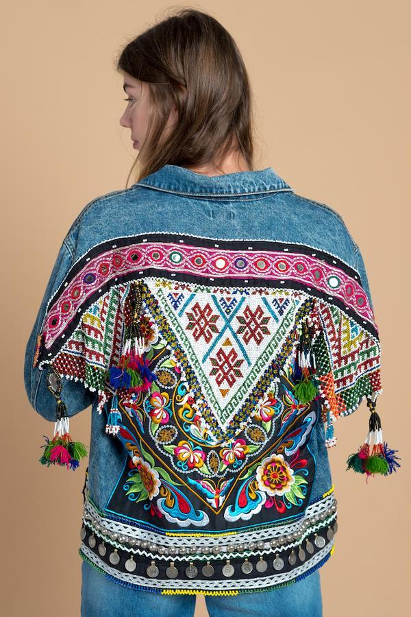 Ethnic-denim-jacket