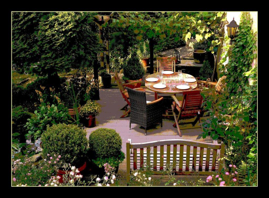A terrace garden at home