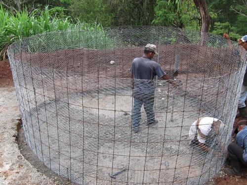Water Conservation - Roof Water Conservation - Construction of Ferro Tank