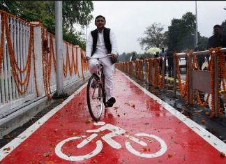 Lucknow-cycle-track-inauguration