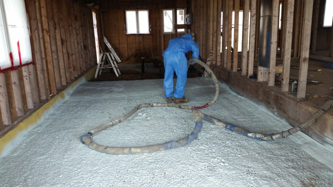 Under Slab Spray Foam For Cold Ontario Floors Eco Insulation
