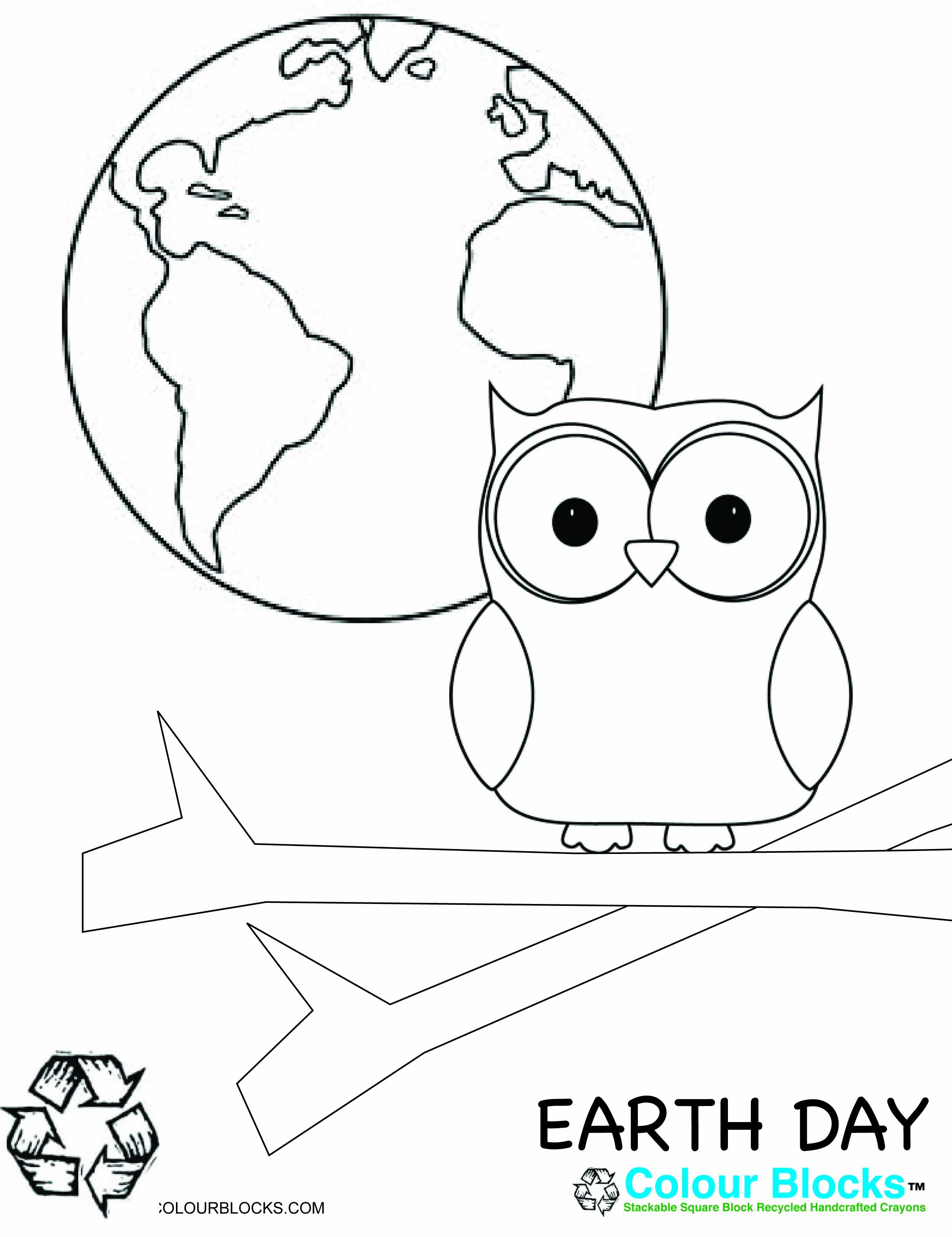 Earth Day Coloring Page Earth Friendly