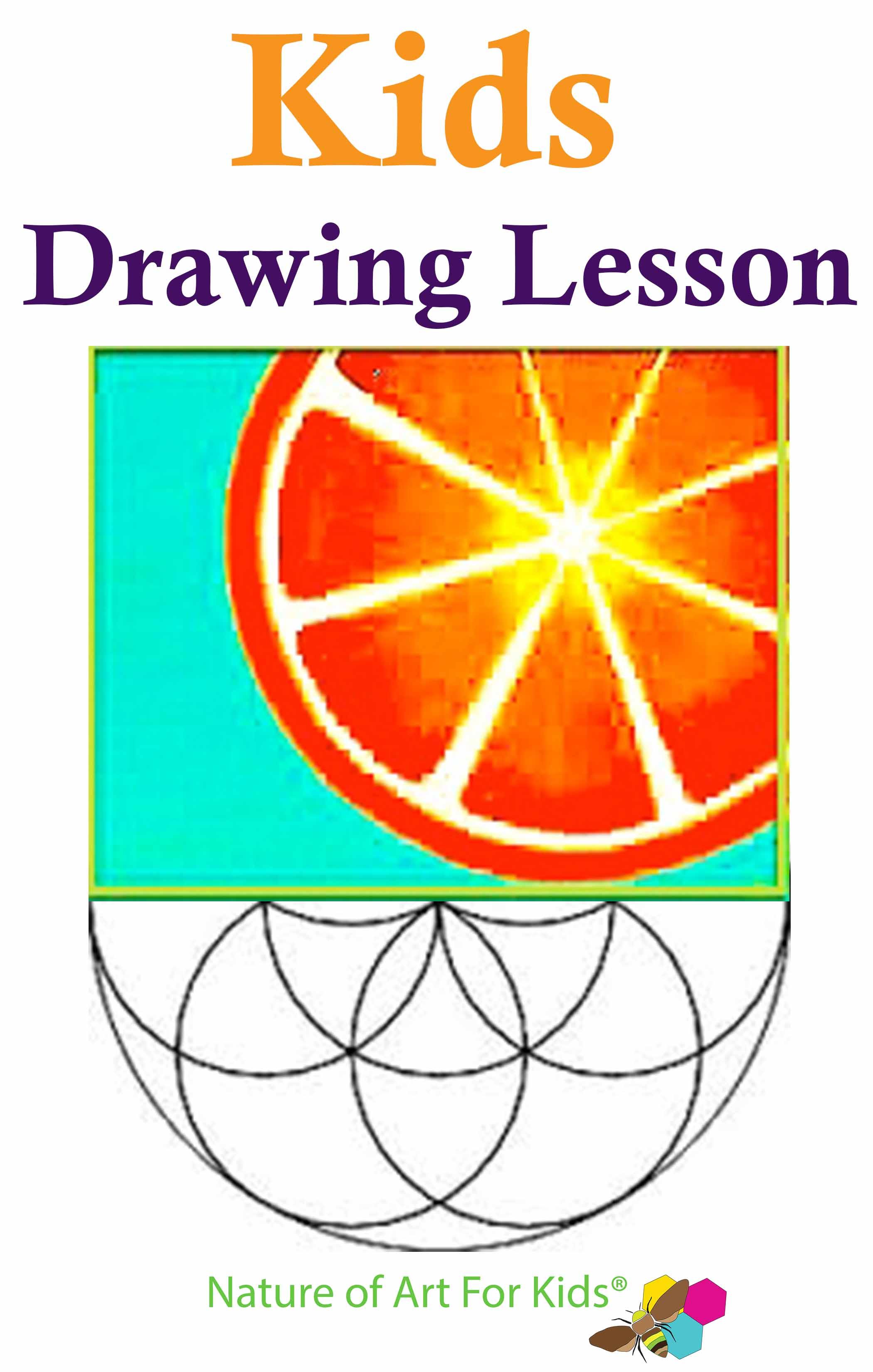 Kids Geometric Symmetry Fruit Drawing Lesson