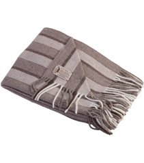 Tricolor Dark Stripes Throw