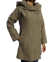 Hood collar coat