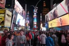 Collégiens à Time Square