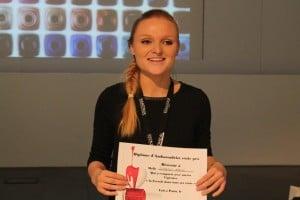 Concours ESSIE la gagnante de l'Ecole de Luca