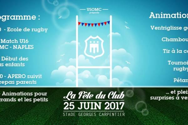 Fêtes du Club : Dimanche 25 juin 2017