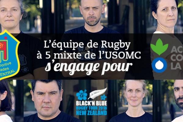 L'équipe de Rugby à 5 Mixte s'engage avec Action Contre la Faim