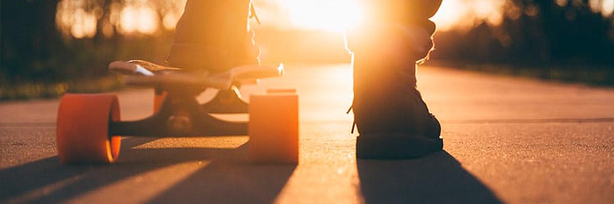 Skate coucher de soleil