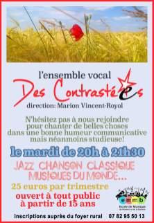 ensemble vocal des Contrasté.e.s