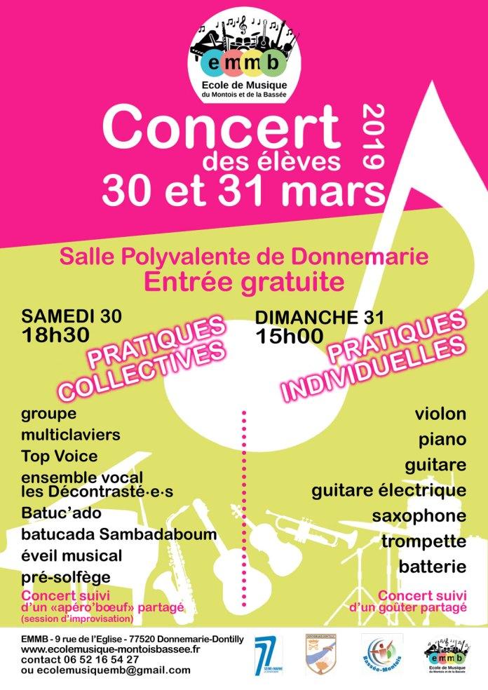 Concert des élèves 2019