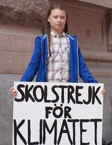 Greta Thunberg en grève pour le climat