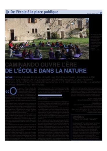 Article Caminando Dauphiné Libéré 2021-04-28