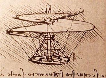 Helicoptère Léonard de Vinci
