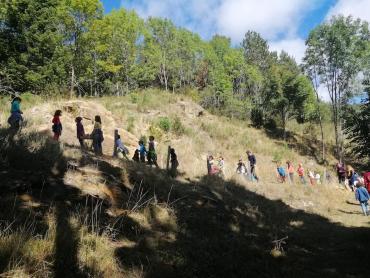 Les enfants à la Comtesse randonnée 2019