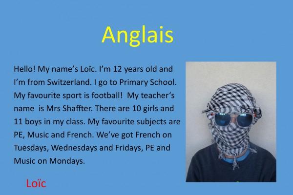 Anglais Loïc
