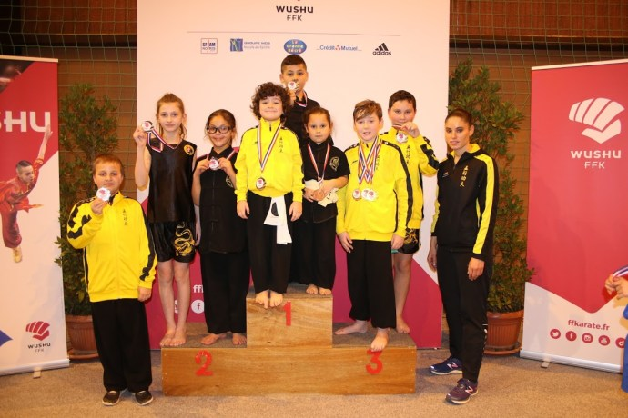 Médailles podiums Trophee Kung-Fu Kid Ecole Wuxing Kung-FU