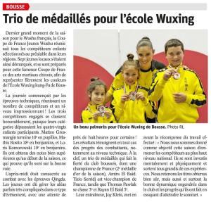 Article-Republicain-Lorrain-3-medailles-Ecole-Wuxing-Bousse-Wushu-FFKDA