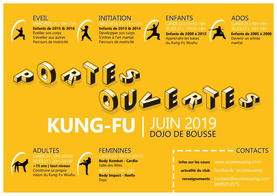 Portes ouvertes Ecole Wuxing Kung-Fu juin 2019