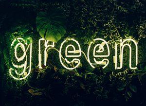Greenwashing con luci al neon