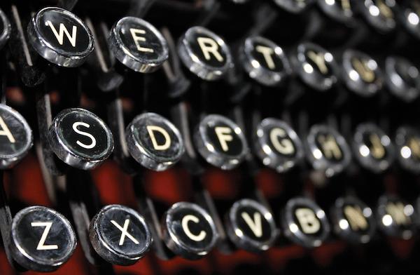 Remington Rand typewriter notecard
