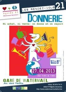 Donnerie - Troisième édition à Watermael-Boitsfort! @ Gare de Watermael | Watermael-Boitsfort | Bruxelles | Belgique