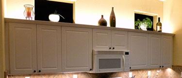 above cabinet led lighting using led
