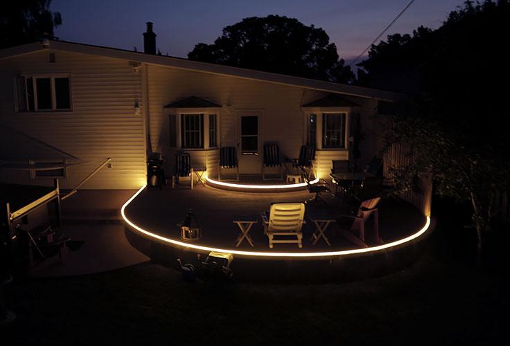 led strip lights for deck lighting and