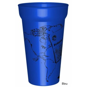 Gobelet couleur25/33clen plastique réutilisable personnalisé pour votre mariage sur le thème du Voyage: Vos