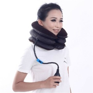3-Layered Air- Inflatable Vertebra Retractor Neck Support Tractor Treatment for Muscle Strain Instrument for Cervical