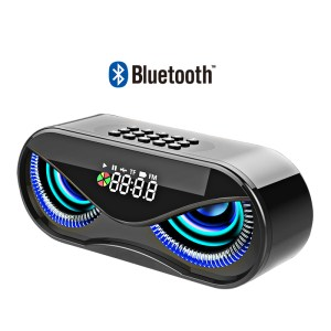 M6 Bluetooth Speaker Owl Shape LED Flash Wireless Subwoofer with FM Radio Alarm Clock TF Card Support Select Songs By Number